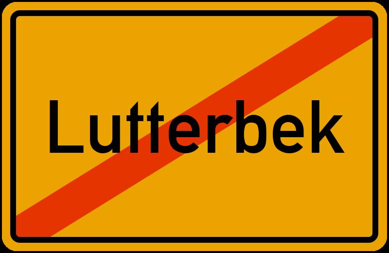 Ortsschild Lutterbek