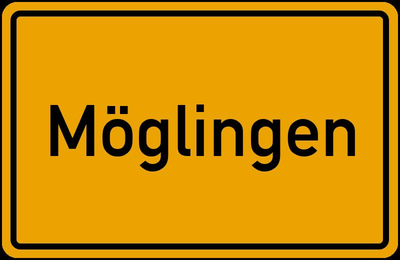 Ortsschild Möglingen