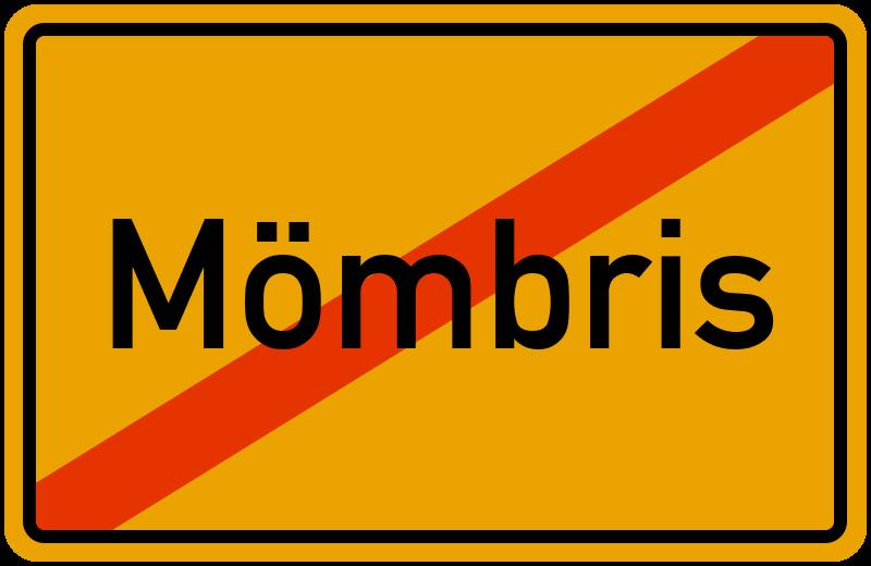 Ortsschild Mömbris