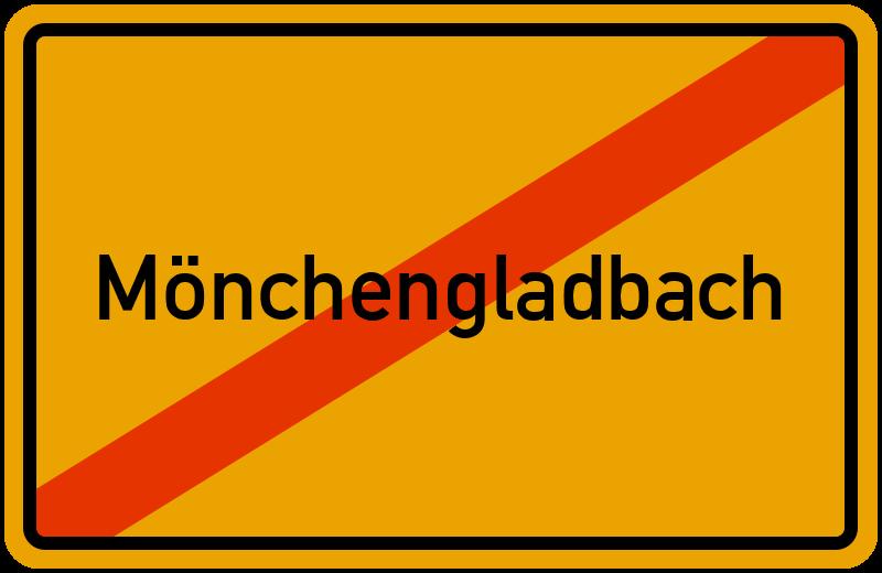 Ortsschild Mönchengladbach