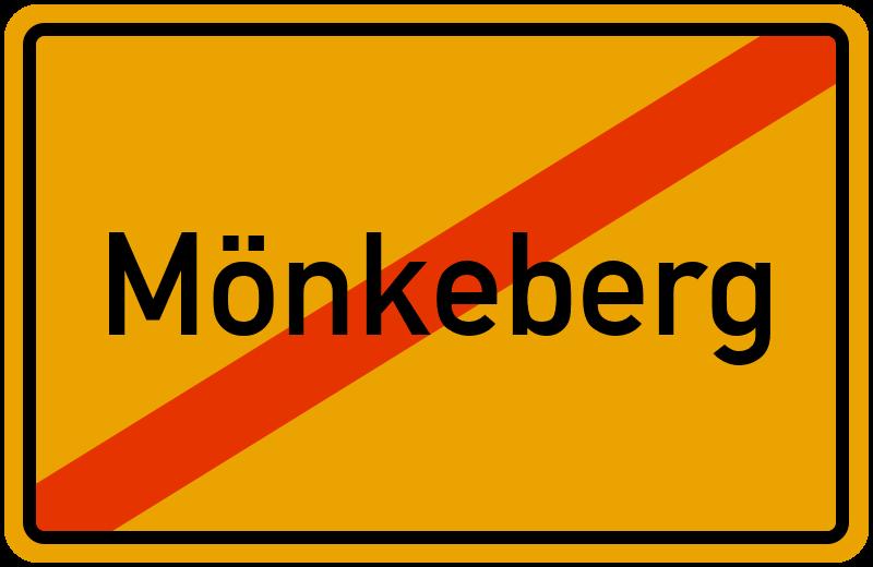 Ortsschild Mönkeberg