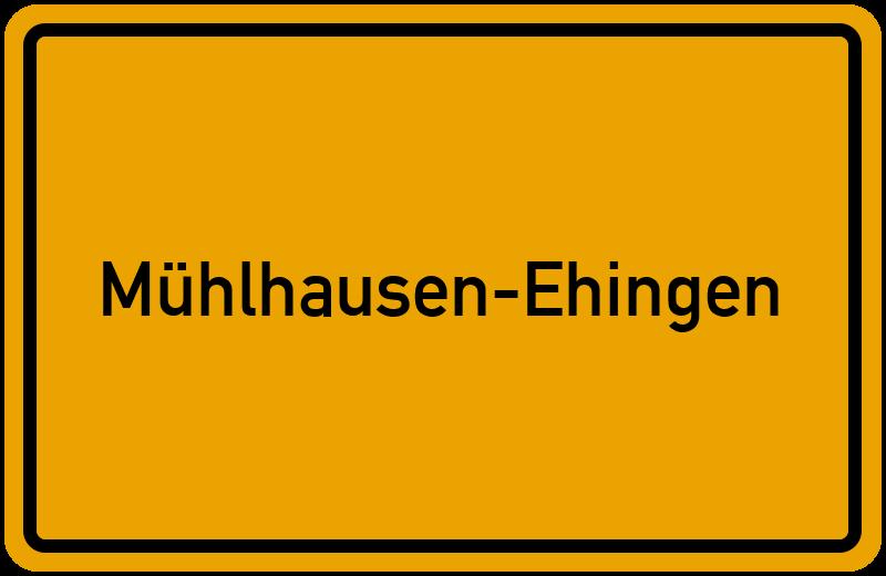 Ortsschild Mühlhausen-Ehingen