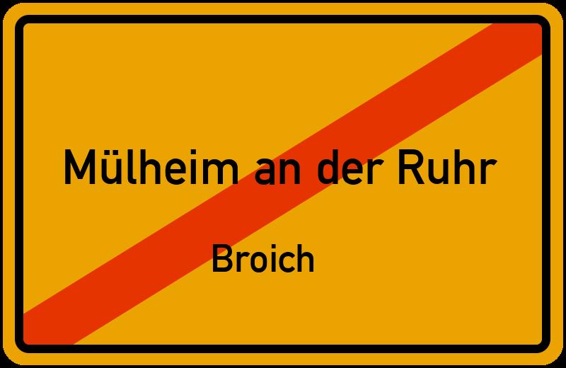 Ortsschild Mülheim an der Ruhr