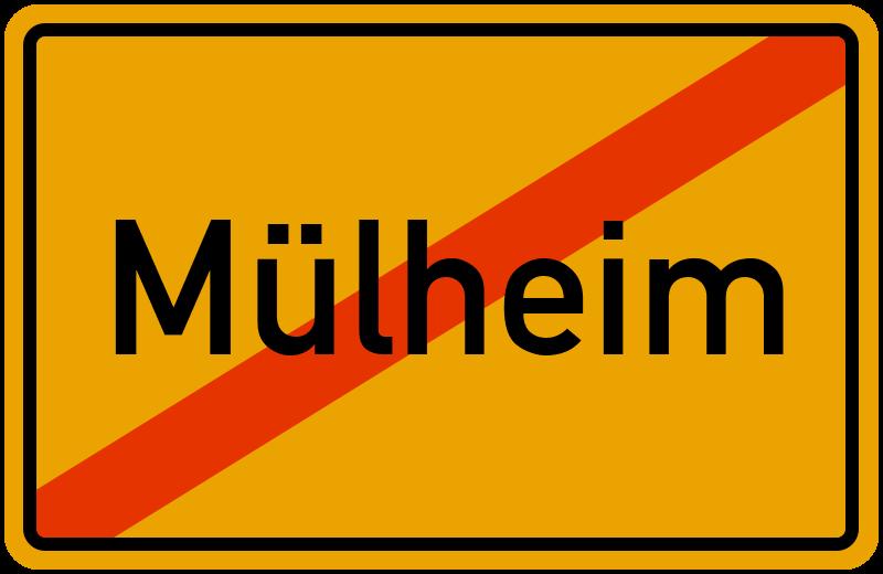 Ortsschild Mülheim