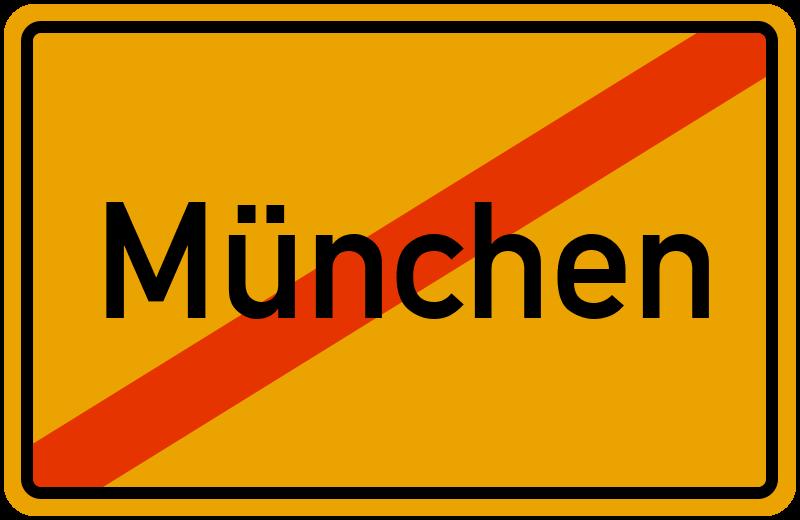 Ortsschild München