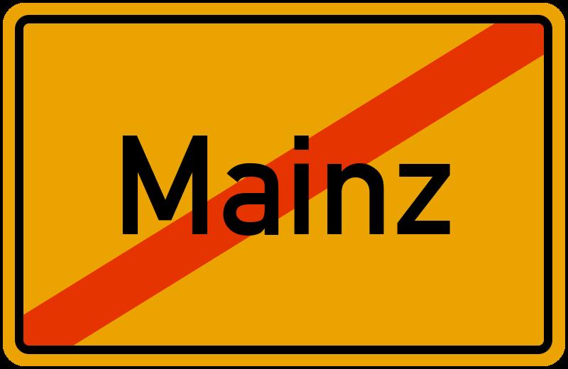 Ortsschild Mainz