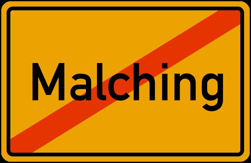 Ortsschild Malching
