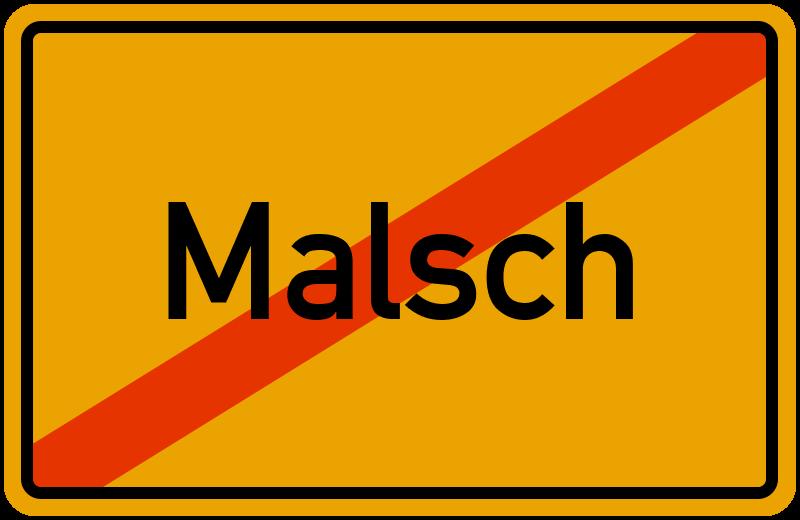 Ortsschild Malsch