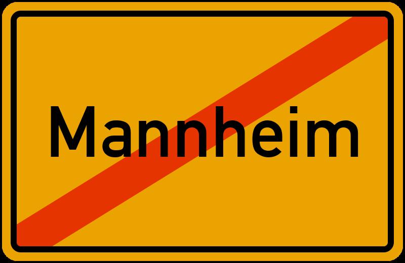 Ortsschild Mannheim