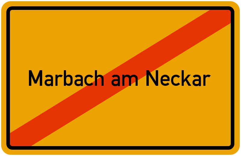 Ortsschild Marbach am Neckar