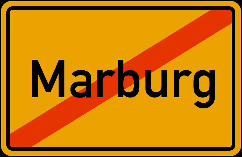 Ortsschild Marburg