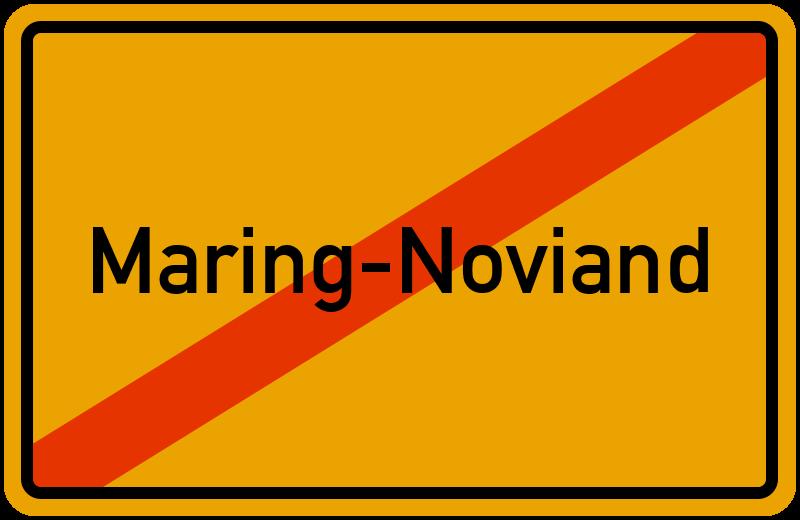 Ortsschild Maring-Noviand