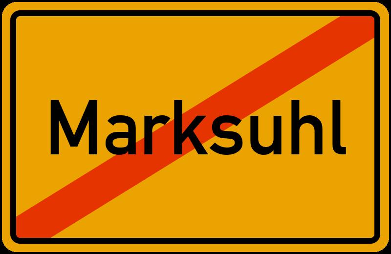 Ortsschild Marksuhl