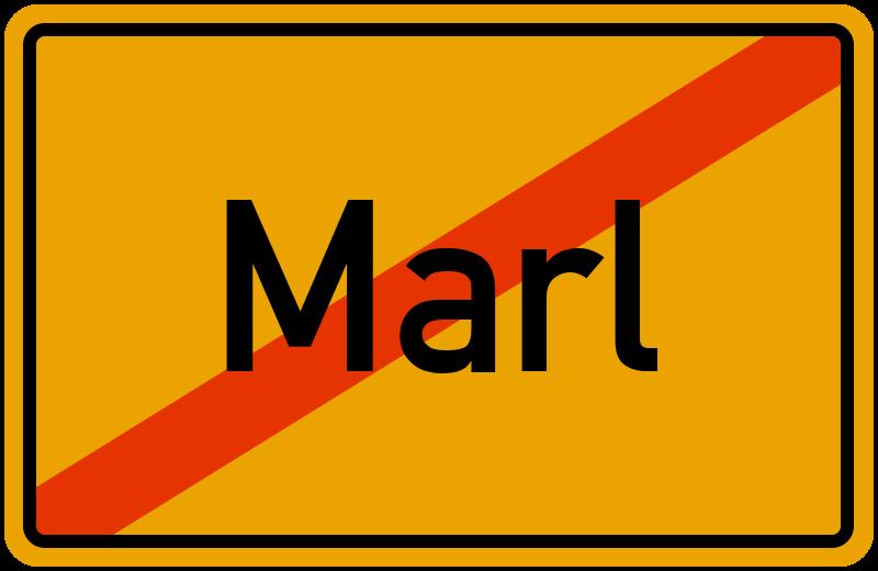 Ortsschild Marl