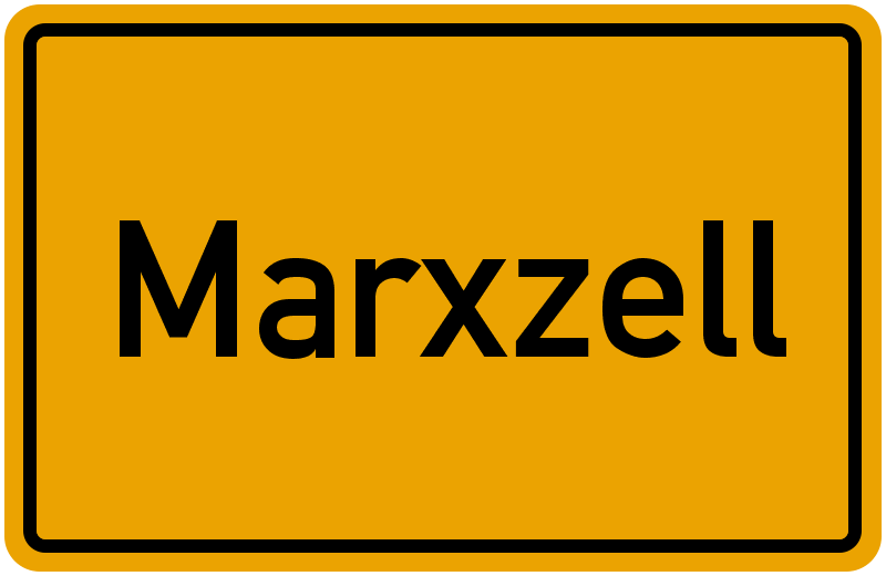 Ortsschild Marxzell