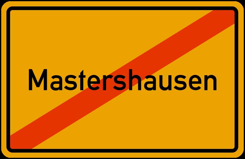 Ortsschild Mastershausen
