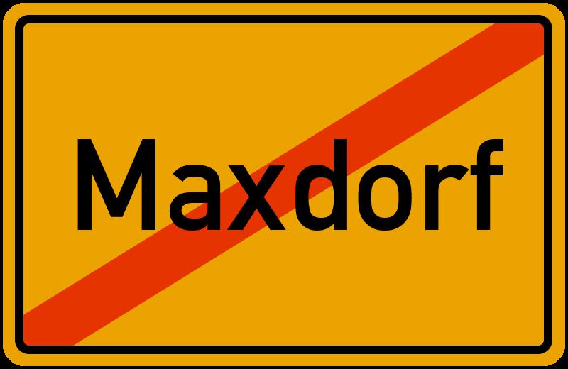 Ortsschild Maxdorf