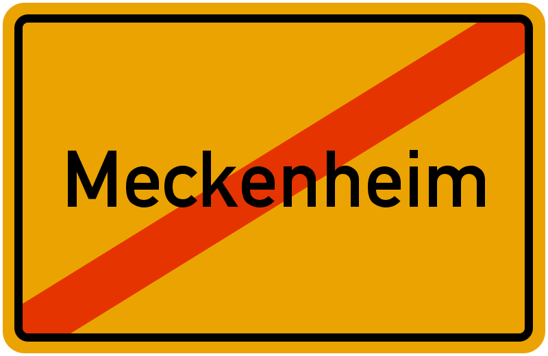 Ortsschild Meckenheim