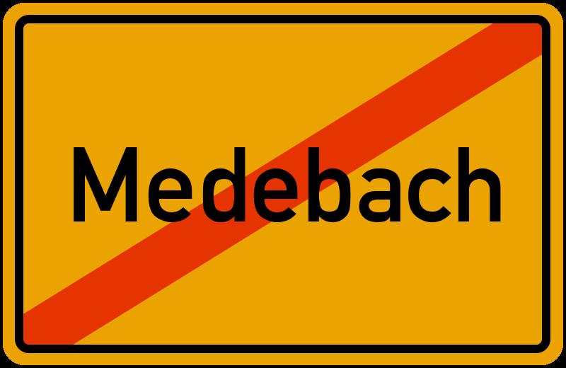 Ortsschild Medebach
