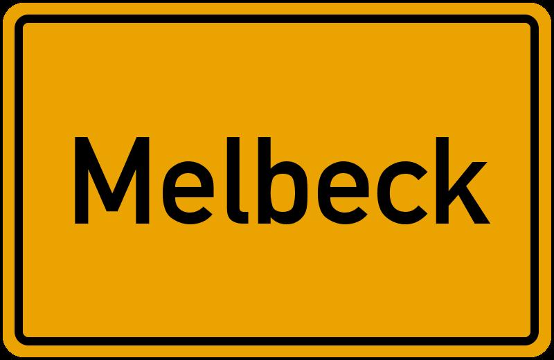 Ortsschild Melbeck