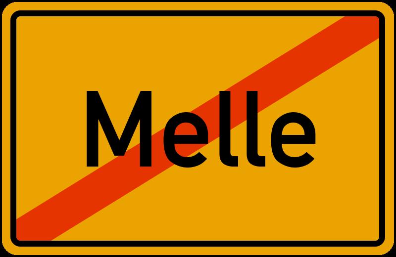 Ortsschild Melle