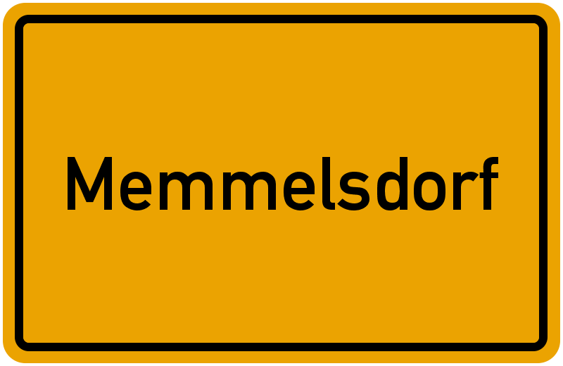 Ortsschild Memmelsdorf