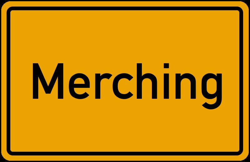 Ortsschild Merching