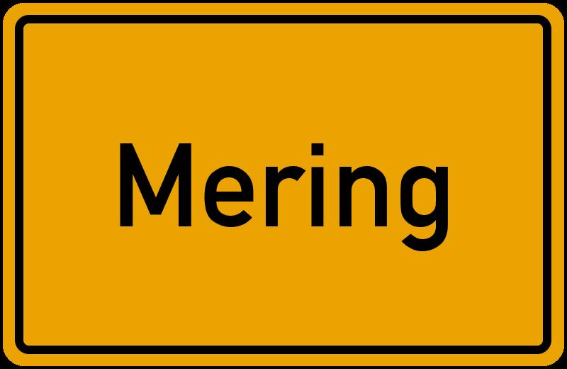 Ortsschild Mering