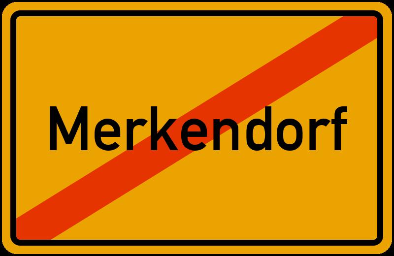Ortsschild Merkendorf
