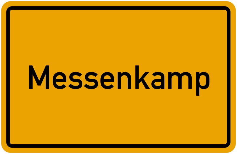 Ortsschild Messenkamp