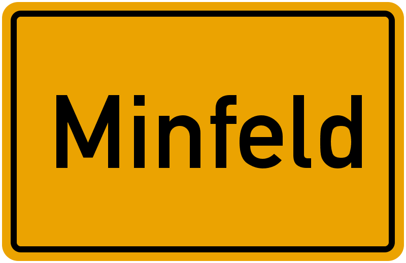 Ortsschild Minfeld