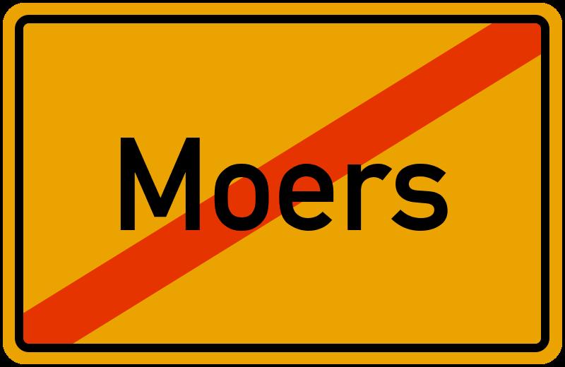 Ortsschild Moers