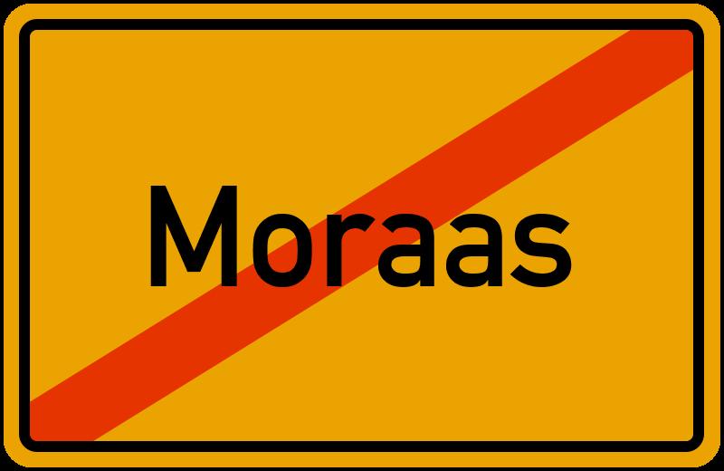 Ortsschild Moraas
