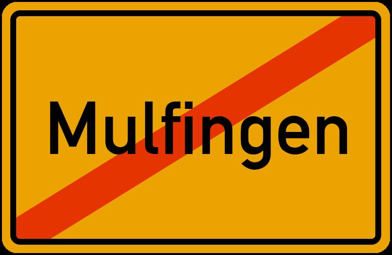 Ortsschild Mulfingen