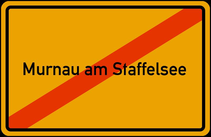 Ortsschild Murnau am Staffelsee