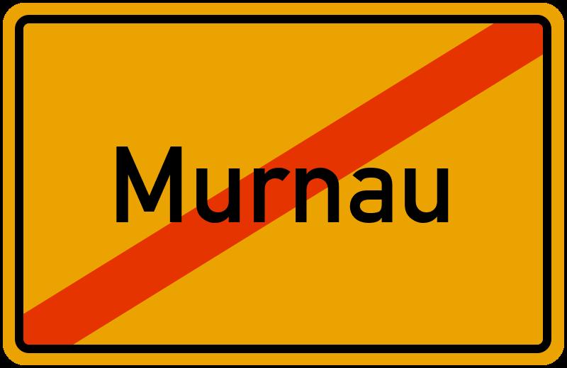 Ortsschild Murnau