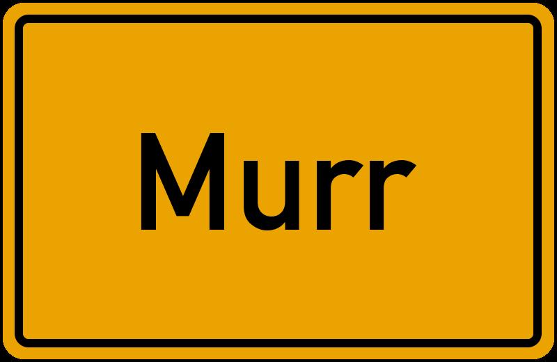 Ortsschild Murr