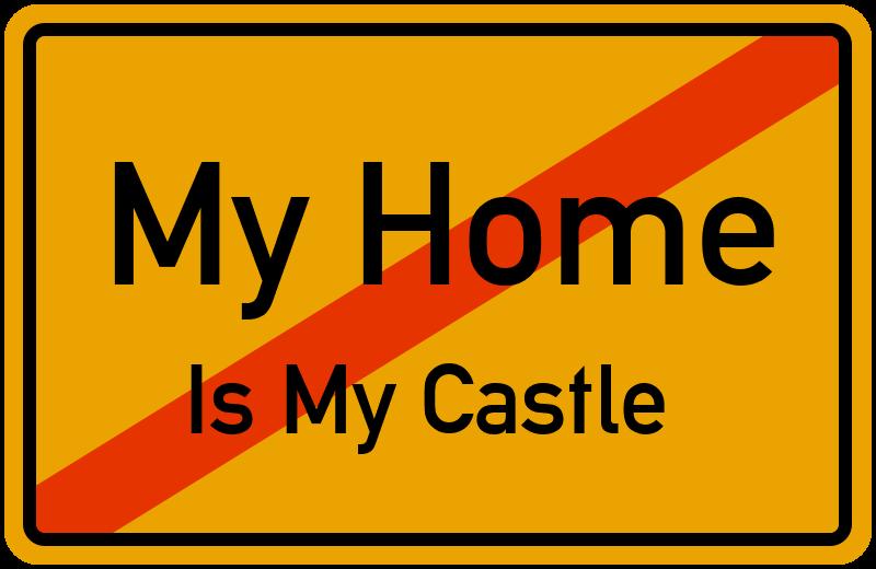 Ortsschild My Home