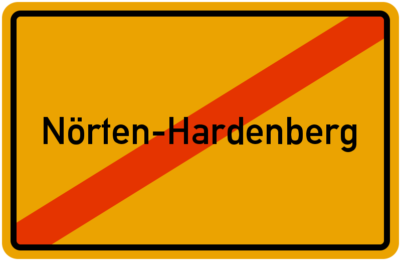 Ortsschild Nörten-Hardenberg