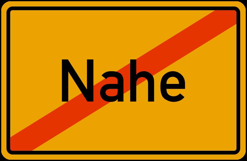 Ortsschild Nahe