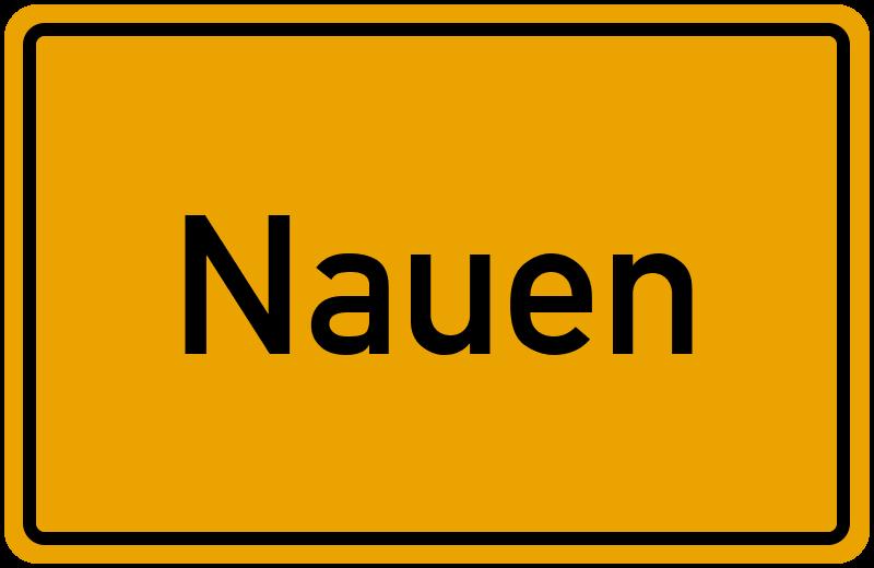 Ortsschild Nauen