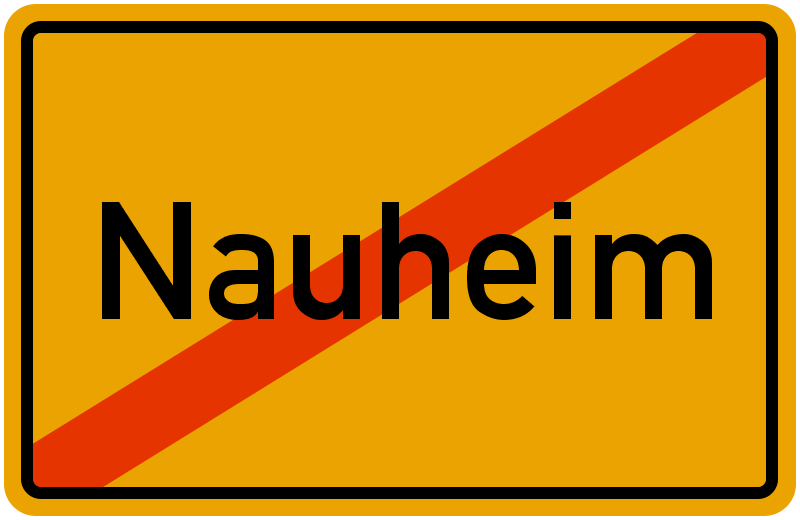 Ortsschild Nauheim