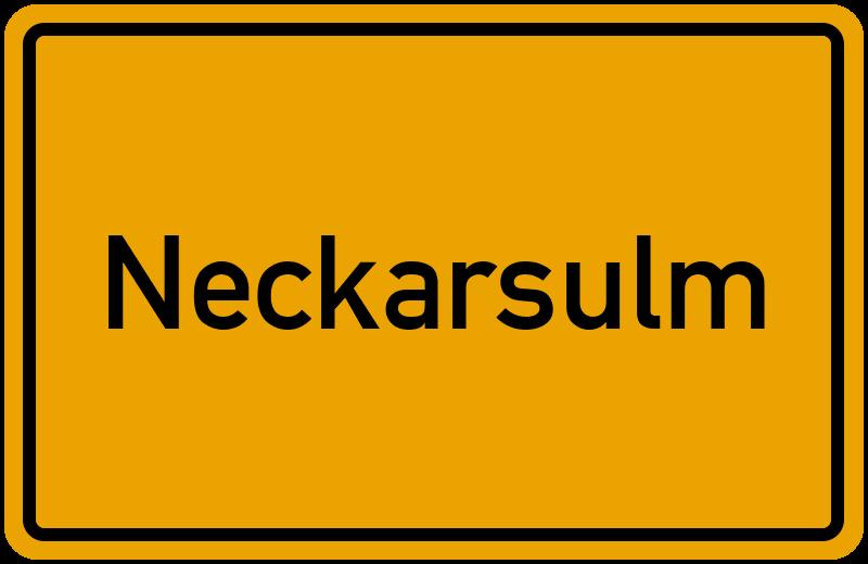 Ortsschild Neckarsulm