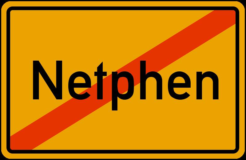 Ortsschild Netphen