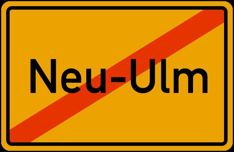 Ortsschild Neu-Ulm