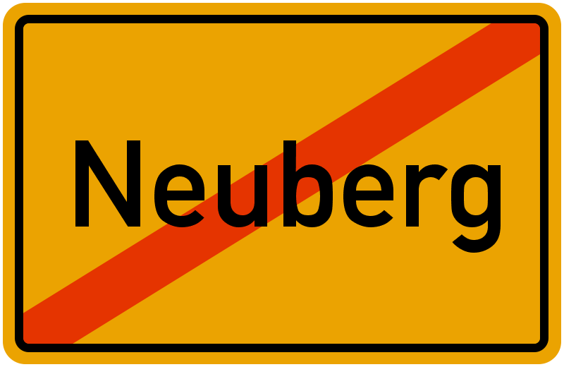 Ortsschild Neuberg