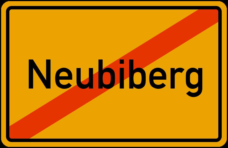 Ortsschild Neubiberg
