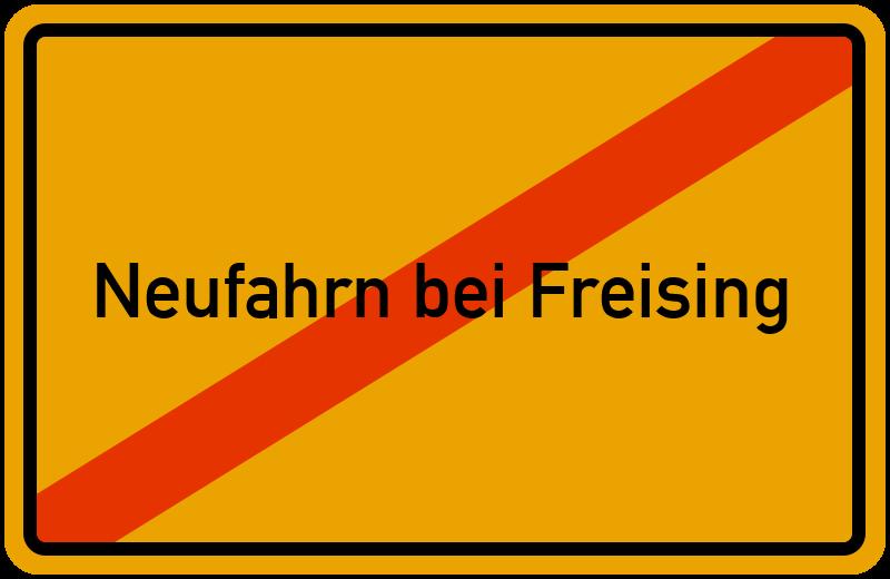 Ortsschild Neufahrn bei Freising