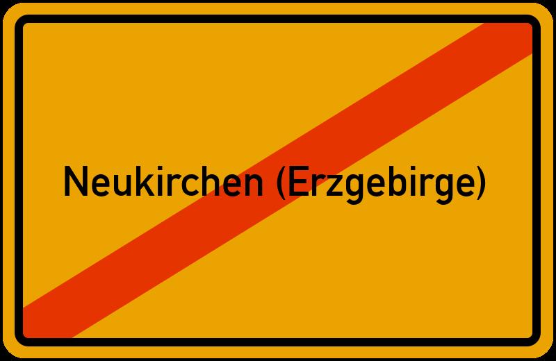 Ortsschild Neukirchen (Erzgebirge)