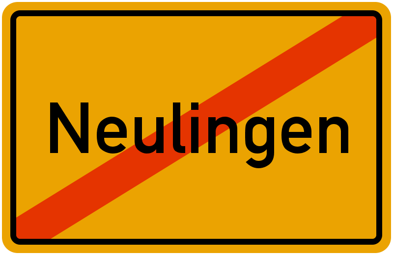 Ortsschild Neulingen